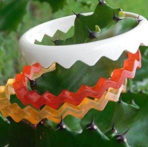 Vintage Chevron Stack Bracelets